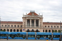 Zagreb, Croatia: feb 17. 2017 - Main Rail Station in Zagreb, Croatia Stock Image