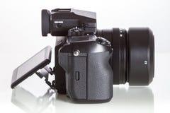 28. 05. 2017, Zagreb, CROATIA: Fujifilm GFX 50S, 51 megapixels,. Fujifilm GFX 50S, 51 megapixels, medium format sensor digital camera with 3.2″ tilt screen on Royalty Free Stock Image