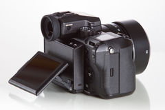 28. 05. 2017, Zagreb, CROATIA: Fujifilm GFX 50S, 51 megapixels,. Fujifilm GFX 50S, 51 megapixels, medium format sensor digital camera with 3.2″ tilt screen on Royalty Free Stock Photography