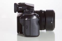 28. 05. 2017, Zagreb, CROATIA: Fujifilm GFX 50S, 51 megapixels,. Fujifilm GFX 50S, 51 megapixels, medium format sensor digital camera with 3.2″ tilt screen on Royalty Free Stock Photo