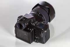 28. 05. 2017, Zagreb, CROATIA: Fujifilm GFX 50S, 51 megapixels,. Fujifilm GFX 50S, 51 megapixels, medium format sensor digital camera with 3.2″ tilt screen on Royalty Free Stock Images