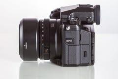 28. 05. 2017, Zagreb, CROATIA: Fujifilm GFX 50S, 51 megapixels,. Fujifilm GFX 50S, 51 megapixels, medium format sensor digital camera with 63 mm G-mount lens on Stock Photo
