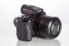 28. 05. 2017, Zagreb, CROATIA: Fujifilm GFX 50S, 51 megapixels,. Fujifilm GFX 50S, 51 megapixels, medium format sensor digital camera with 63 mm G-mount lens on Stock Image