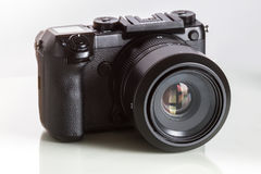 28. 05. 2017, Zagreb, CROATIA: Fujifilm GFX 50S, 51 megapixels,. Fujifilm GFX 50S, 51 megapixels, medium format sensor digital camera with 63 mm G-mount lens on Stock Images