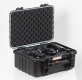 28. 05. 2017, Zagreb, CROATIA: Fujifilm GFX 50S, 51 megapixels,. Fujifilm GFX 50S, 51 megapixels, medium format sensor digital camera on in secure case white Stock Image