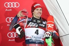 Audi FIS World Cup Mens Slalom award ceremony Stock Photography