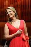 Elina Garanca held a concert in the Concert Hall Lisinski. ZAGREB, CROATIA - JANUARY 21: World opera star, mezzo-soprano Elina Garanca held a concert in the royalty free stock image