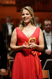 Elina Garanca held a concert in the Concert Hall Lisinski. ZAGREB, CROATIA - JANUARY 21: World opera star, mezzo-soprano Elina Garanca held a concert in the royalty free stock photography