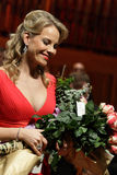 Elina Garanca held a concert in the Concert Hall Lisinski. ZAGREB, CROATIA - JANUARY 21: World opera star, mezzo-soprano Elina Garanca held a concert in the stock photography
