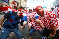 Croatian football fans Final game