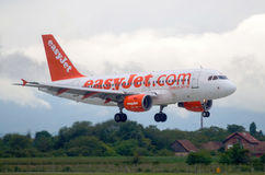 ZAGREB, CROATIA - JULY 12: EasyJet Airbus A320 on Pleso airport in Zagreb, Croatia. Stock Images