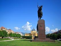 Zagreb, Croatia - King Tomislav statue Stock Photos
