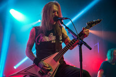 Zagreb, CROATIA - Mart 23, 2017: Children of Bodom, concert in T Stock Photo