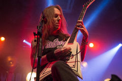 "Zagreb, CROATIA - Mart 23, 2017: Children of Bodom, concert in T. Concert of Finnish melodic death metal band ""Children of Bodom"" on stage of Tvornica Stock Photos"