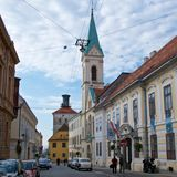 Zagreb, Croatia - October 2017: Quiet life at the Upper Town of Zagreb in Croatia. Europe Stock Photos