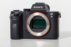 29. 04. 2017, Zagreb, CROATIA: Sony Alpha a7 II Mirrorless Digit. Sony Alpha a7 II Mirrorless Digital Camera Body and lens. With full-frame 24MP full-frame CMOS stock photos