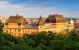 Zagreb, Croatia. At a sunset stock image