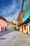 Zagreb. Croatia. View of old street in Zagreb. Croatia royalty free stock photography