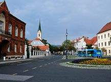 Zagreb, Croatia, View to Franciscan monastery of Saint Francis of Assisi royalty free stock photos