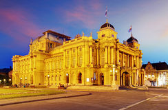 Zagreb - Croatian National Theate Stock Images