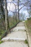 ZAGREB, CROATIE - avril 2018 chemin de marche à travers les bois photographie stock libre de droits