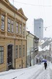 ZAGREB, CROATIE - 6 FÉVRIER 2015 : Rue de Radiceva couverte dans s Images stock