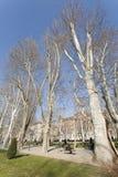 ZAGREB, CROATIE - MARS 2015 : Parc de Zrinjevac un matin ensoleillé d'hiver images libres de droits