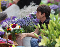 Zagreb/Dame Florist stock afbeeldingen