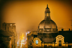 Zagreb December night Stock Photos