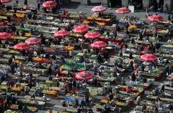 Zagreb, Dolac rynek, Chorwacja fotografia royalty free