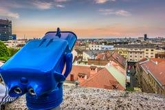 Zagreb du centre du point de vue, Croatie Image stock