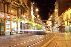 Zagreb en la noche Imagen de archivo libre de regalías