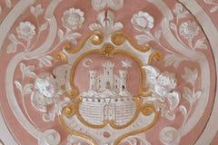 Zagreb, escudo de armas imagen de archivo