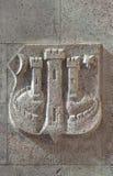 Zagreb, escudo de armas fotos de archivo libres de regalías