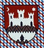 Zagreb, escudo de armas fotos de archivo