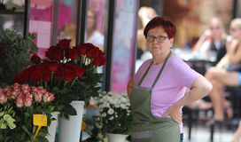 Zagreb / Florist And Her Flower Shop Royalty Free Stock Photo