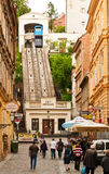 Zagreb funicular stock photo
