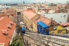 Zagreb funicular imágenes de archivo libres de regalías