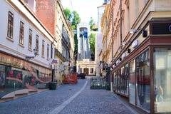 Zagreb funicular Imagen de archivo libre de regalías