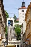 Zagreb funicular fotografía de archivo