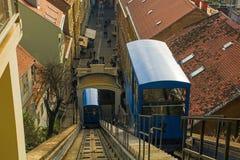 Zagreb funicular imagen de archivo