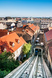 The Zagreb funicular Stock Images