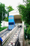 The Zagreb funicular is one of many tourist attractions in Zagreb.  stock images