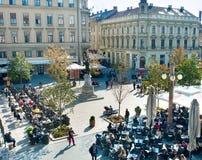 Zagreb fyrkant Royaltyfria Bilder