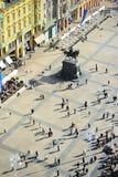 Zagreb główny plac Zdjęcia Stock