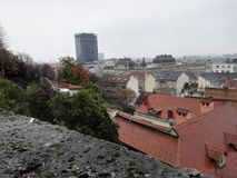 Zagreb. Hdr panorama city Royalty Free Stock Image