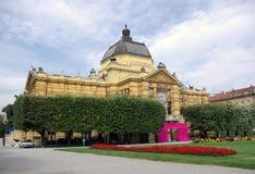 Zagreb - het paviljoen van de Kunst stock foto's