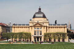 Zagreb: Het Paviljoen van de kunst Royalty-vrije Stock Afbeeldingen