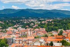 Zagreb hill Sljeme Stock Image