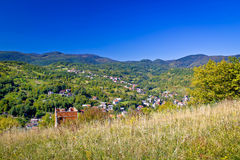 Zagreb hillside green zone nature Royalty Free Stock Images